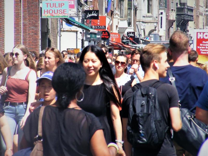 Damrak, Amsterdam, juli 2019